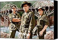 1950s Movies Canvas Prints - The Bridge On The River Kwai, From Left Canvas Print by Everett