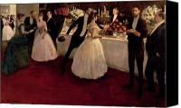 High Society Canvas Prints - The Buffet Canvas Print by Jean Louis Forain