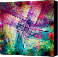Geometric Canvas Prints - The Building Blocks Canvas Print by Angelina Vick