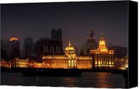 Skylines Canvas Prints - The Bund - More than Shanghais most beautiful landmark Canvas Print by Christine Till