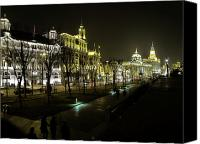 Skylines Canvas Prints - The Bund - Shanghais famous waterfront Canvas Print by Christine Till