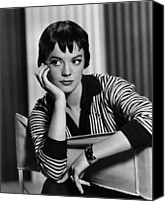 Fid Photo Canvas Prints - The Burning Hills, Natalie Wood, 1956 Canvas Print by Everett