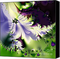 Julia Digital Art Canvas Prints - The Butterfly Effect . Version 2 . Square Canvas Print by Wingsdomain Art and Photography