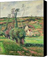 Slopes Painting Canvas Prints - The Cabbage Slopes Canvas Print by Camille Pissarro