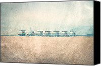 Beach Photograph Photo Canvas Prints - The Cabins Canvas Print by Nastasia Cook