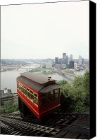 Skylines Canvas Prints - The Cable Car To Mount Washington Canvas Print by Lynn Johnson
