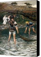 Talking Canvas Prints - The Calling of Saint Peter and Saint Andrew Canvas Print by Tissot