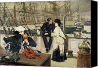 Tissot Canvas Prints - The Captain and the Mate Canvas Print by Tissot