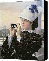 Tissot Canvas Prints - The Captains Daughter Canvas Print by Tissot