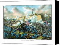 Warishellstore Drawings Canvas Prints - The Capture of Fort Fisher Canvas Print by War Is Hell Store