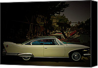 1960 Canvas Prints - The Car Show Canvas Print by Steven  Digman