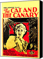 Horror Fantasy Movies Photo Canvas Prints - The Cat And The Canary, Center Laura La Canvas Print by Everett