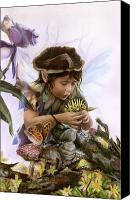 Faerie Canvas Prints - The Caterpillarnarian Canvas Print by Marissa Oosterlee