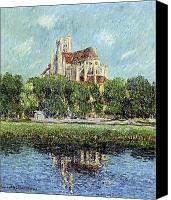 Signed Canvas Prints - The Cathedral at Auxerre Canvas Print by Gustave Loiseau