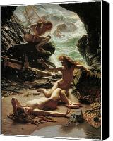 Storm Painting Canvas Prints - The Cave of the Storm Nymphs Canvas Print by Edward Poynter