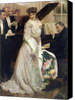Singer Painting Canvas Prints - The Celebrated Canvas Print by Joseph Marius Avy