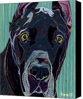Great Dane Canvas Prints - The Celebrity Life of Harley Ellens Canvas Print by David  Hearn