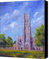 University Canvas Prints - The Chapel at Duke University Canvas Print by Jeff Pittman