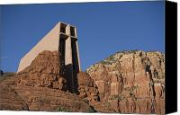 Religious Structures Canvas Prints - The Chapel Of The Holy Cross Church Canvas Print by John Burcham
