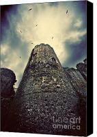 Storm Photo Canvas Prints - The chapel tower Canvas Print by Meirion Matthias