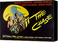 1946 Movies Canvas Prints - The Chase, Michele Morgan, Peter Lorre Canvas Print by Everett