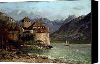 1875 Canvas Prints - The Chateau de Chillon Canvas Print by Gustave Courbet