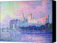Signac Canvas Prints - The Chateau des Papes Canvas Print by Paul Signac