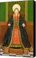 Enthroned Canvas Prints - The Child Enthroned Canvas Print by Thomas Cooper Gotch