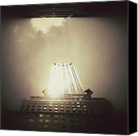 Nyc Canvas Prints - The Chrysler Building - New York City Canvas Print by Vivienne Gucwa