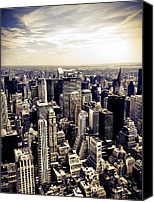 Nyc Canvas Prints - The Chrysler Building and Skyscrapers of New York City Canvas Print by Vivienne Gucwa
