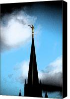 Justin Hiatt Canvas Prints - The Church Canvas Print by Justin Hiatt