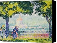 Hill Town Canvas Prints - The Church of Santa Maria degli Angeli Canvas Print by Henri-Edmond Cross