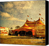 Cole Canvas Prints - The Circus is in Town Canvas Print by Susanne Van Hulst
