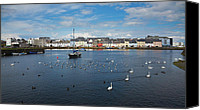 Irish Canvas Prints - The Claddagh Galway Canvas Print by Gabriela Insuratelu