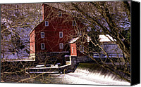 Clinton Photo Canvas Prints - The Clinton Nj Mill Canvas Print by Skip Willits