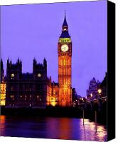 Politician Canvas Prints - The Clock Tower aka Big Ben Parliament London Canvas Print by Chris Smith