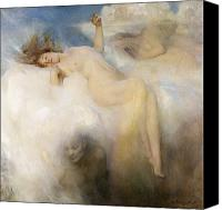 Nudes Canvas Prints - The Cloud Canvas Print by Arthur Hacker