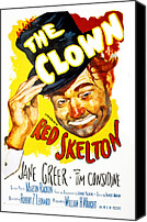 Postv Photo Canvas Prints - The Clown, Red Skelton, 1953 Canvas Print by Everett