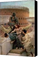 Alma-tadema; Sir Lawrence (1836-1912) Canvas Prints - The Coliseum Canvas Print by Sir Lawrence Alma-Tadema