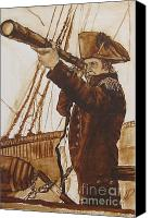 Colonial Man Painting Canvas Prints - The Colonial Canvas Print by Hannah Dise