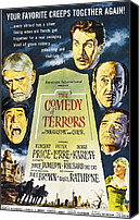 1960s Poster Art Canvas Prints - The Comedy Of Terrors, Clockwise Canvas Print by Everett