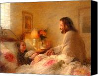 Jesus With Girl Canvas Prints - The Comforter Canvas Print by Greg Olsen