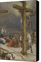 Onlookers Canvas Prints - The Confession of Saint Longinus Canvas Print by Tissot
