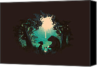 Forest Canvas Prints - The Conversationalist Canvas Print by Budi Satria Kwan