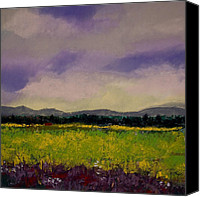 Landscape Pastels Canvas Prints - The Countryside Canvas Print by David Patterson