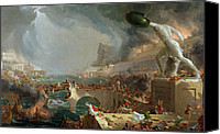 Ruin Painting Canvas Prints - The Course of Empire - Destruction Canvas Print by Thomas Cole