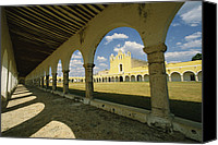 Religious Structures Canvas Prints - The Courtyard Of The Great Monastery Canvas Print by Martin Gray