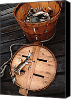 Basket Photo Canvas Prints - The Cranky Crab Canvas Print by Skip Willits