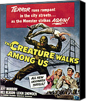 1956 Movies Canvas Prints - The Creature Walks Among Us, Bottom Canvas Print by Everett