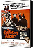 1960s Poster Art Canvas Prints - The Crimson Cult, U.s Title Aka The Canvas Print by Everett